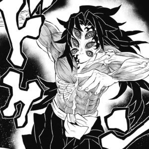 筋肉や骨格が見えてきている黒死牟